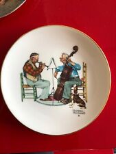 """Norman Rockwell Plate, decorative Gorham China, """"Canine Solo"""" 1981"""