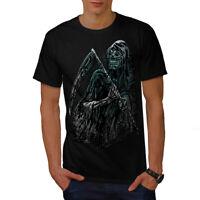 Wellcoda Reaper Killer Death Mens T-shirt, Scary Graphic Design Printed Tee