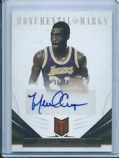 Autographed Los Angeles Lakers Basketball Trading Cards
