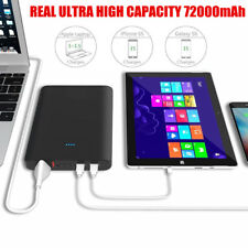 72000mAh Portable Power Bank External Battery Charger for Laptop MacBook iPhone