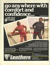 TT Leathers Clothing Motorcycle 1978 Magazine Advert #3401