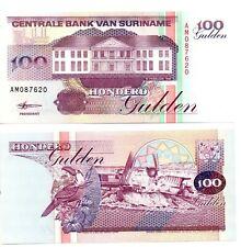 SURINAME 100 Gulden (10.02.1998) Pick 139b, UNC *RARE*