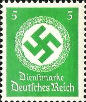DR Nazi 3rd Reich Rare WW2 Stamps 1934-38 Big Swastika Oficial Service Stamp