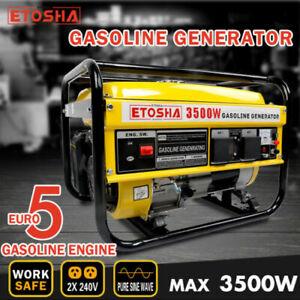 ETOSHA Petrol Generator 3.5kVA Single-Phase Camping Portable Gasoline Pure Sine