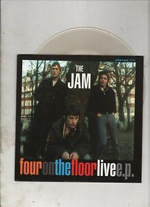 """THE JAM Four on the Floor Live 7"""" EP w/PS MOD PUNK Paul Weller Clear Vinyl"""