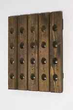 French Style Riddling Rack Distressed Wood 20-Bottle Wine Rack
