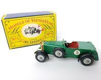 Lesney MATCHBOX Models Of  YesterYear No 5 1929 Le Mans Bentley w/Original Box