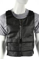 Men's Leather Bullet Proof Motorcycle Club & Biker Vest