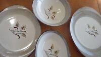 Vintage Harvest Oats Blue Ridge Southern Pottery platter oval bowl cake plate +