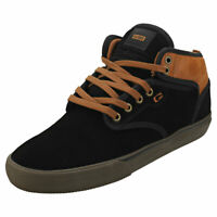 Globe Motley Mid Mens Black Brown Suede & Synthetic Chukka Trainers