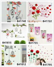 Bird House Flowers Home Room Decor Removable Wall Stickers Decal Decoration