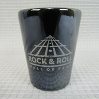 "Rock & Roll Hall of Fame Black Shot Glass 2 1/4"" Tall"