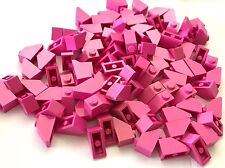 LEGO New Lot of 20 Bright Pink 2x1 Friends Slope Pieces