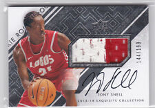 2013-14 Exquisite Collection TONY SNELL PATCH AUTOGRAPH AUTO! BULLS! LOBOS! WS
