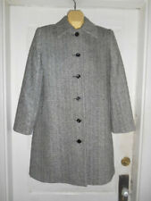 Vtg. Classics by S. Rothschild Black White Winter Coat Size 6P 100% Wool EUC!!