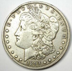 1893-O Morgan Silver Dollar $1 - XF Details (EF) - Rare Date Coin!