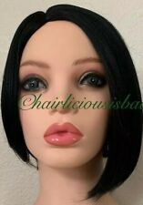short black wig High Low Style Heat Resistance Ok Synthetic