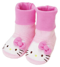 NEW AUTHENTIC SANRIO HELLO KITTY PINK SOFT BABY BOOTIE CRIB SHOES SOCK size 4