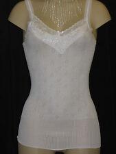 Ladies White/Black French Neck Spencer Thermal Vest Three Sizes