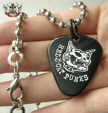 Hellcatpunks Punk Metal Ball Chain+Guitar Pick Necklace