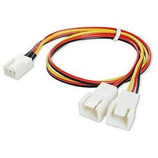 Fan 3 pin to 3 Wire Y Splitter Cooling Fan Cable Connector Adapter - Single