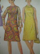 Vintage Simplicity 6783 A-LINE DRESS HIGH ROUND NECKLINE Sewing Pattern Women