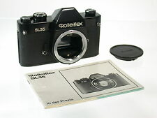 Rollei Rolleiflex sl35 BLACK CHASSIS Body Top Mechanic Classic SLR/16