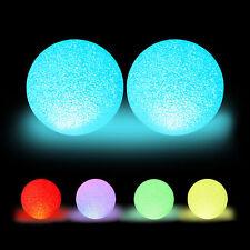 2 x LED Kugelleuchte Farbwechsel, Stimmungslicht 15 cm, Effektlampe Glitzerkugel
