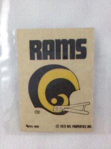 NFL 1972 Los Angeles Rams Sunbeam / Schwiebel Bread Mini Helmet Sticker