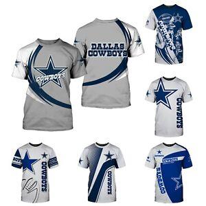 Dallas Cowboys Mens T Shirt Summer Casual Tee Top Shirt Short Sleeve Fans Gift