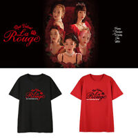 Kpop Red Velvet T-shirt La Rouge Concert Tshirt Short Sleeve Unisex Cotton Tee