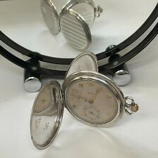 More details for recta swiss 0.900 silver double hunter/double back working pocket watch