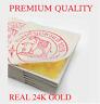 """GENUINE REAL PURE 24K 999 GOLD LEAF GILDING SHEET 1.18"""" ( For Art Work & Spa )"""