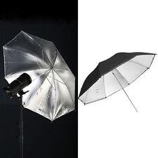 2Pcs Video Studio Umbrella Light Lighting Stand Kit Photo Backdrop Black/Silver