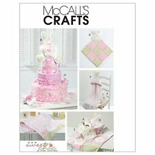 McCalls Crafts Sewing Pattern M6301 Blanket Pillow Burp Cloth Towel Diaper Cake