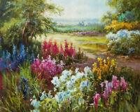 Handmade Abstract Oil Painting on Canvas Modern Landscape Wall Art Decor AFJ018