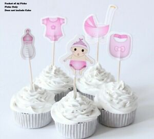Baby Girl/Baby Boy cupcake toppers, 25 pick, Baby Shower, Gender Reveal Birthday