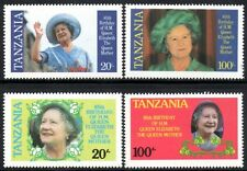 (Ref-10891) Tanzania 1985 Life and Times of the Queen Mother SG.425/428 Mint MNH