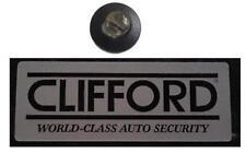 Alarma de automóvil ficticia 12v Led Intermitente + 2 X Original Clifford ventana Stickers