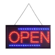Led Lighted Open Business Sign Shop Board Store Neon Display Light Lamp 25x48cm