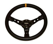 "Land Rover Defender Real Leather Sport Steering Wheel 14"" Off Road Racing Car"