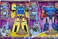 Transformers Cyberverse Battle Call Optimus Prime Bumblebee Officer Class NEW