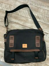 Will Leather Goods Wax Canvas Black Road Messenger New Retail $195