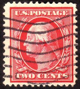 1909, US 2c, Washington, Used, Sc 358