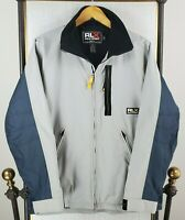 Vtg RLX POLO SPORT Size Small Mens Gray Fleece Lined Winter Ski Jacket Coat