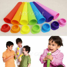 10 X Silicone Push Up Ice Cream Jelly Lolly Pop For Popsicle Maker Mould DIY New