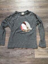 Zara Girls T-shirt Manches Longues Gris Fille 8 Ans 128 Cm