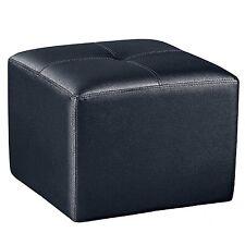 puff cuadrado pouf de polipiel puf para saln comedor color negro