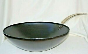 """Made In (brand name) Blue Carbon Steel 12.5"""" Wok Made In France SEE DESCRIPTION!"""