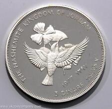 1977 Jordan ARGENTO PROOF 3 Dinari Coin